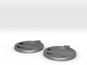 Futatsuhikiryo - Earring 2x in Polished Silver