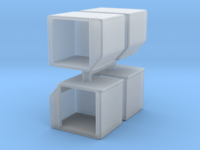 AKE Air Container (open) (x4) 1/144 in Smooth Fine Detail Plastic