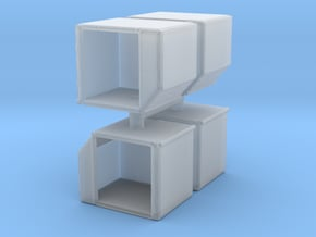 AKE Air Container (open) (x4) 1/160 in Smooth Fine Detail Plastic