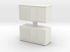 Electrical Cabinet (x2) 1/76 in White Natural Versatile Plastic