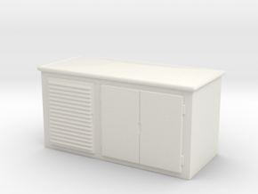 Electrical Cabinet 1/72 in White Natural Versatile Plastic