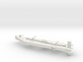 1/64th Long boom and stick for Excavator in White Natural Versatile Plastic