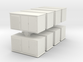 Electrical Cabinet (x8) 1/144 in White Natural Versatile Plastic