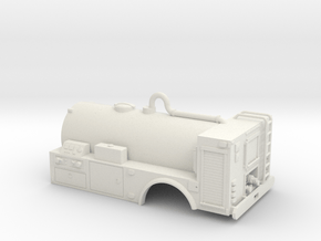 1/50th Wildland 16 foot fire tanker in White Natural Versatile Plastic