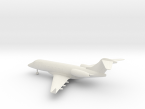 Bombardier Challenger 300 in White Natural Versatile Plastic: 1:160 - N
