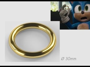 Sonic Movie Ring in 14k Gold Plated Brass