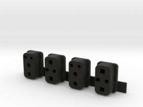 1:8 Eaglemoss Delorean Black wire box in Black Natural Versatile Plastic