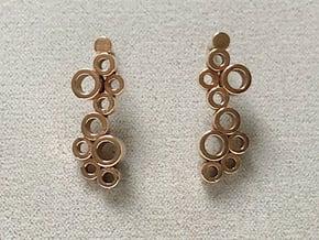 Polka Dot Earrings (Posts)  in Natural Bronze