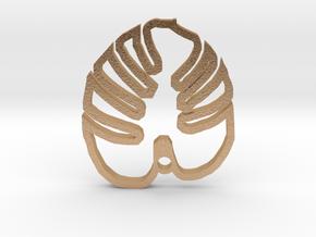 Monstera leaf pendant in Natural Bronze
