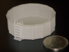 HO-Scale 12-Foot Swimming Pool in Smooth Fine Detail Plastic