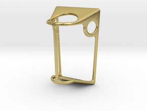 Joint Pendant Delux in Natural Brass