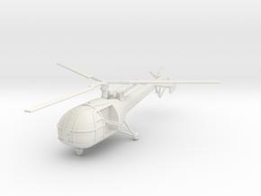 BW02B Alouette III G-Car (1/72) in White Natural Versatile Plastic