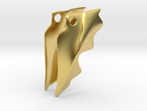 Winged Elite Earrings in Polished Brass