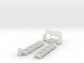 N-Scale Small Restaurant Interior in Smooth Fine Detail Plastic