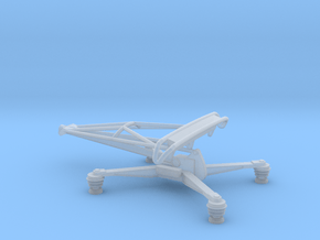 1:76 Class 86 Pantograph (in it's lowered position in Smooth Fine Detail Plastic