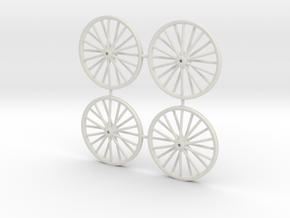 28mm N Gauge Colliery Winding Gear in White Natural Versatile Plastic