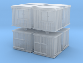 10 ft Office Container (x8) 1/350 in Smooth Fine Detail Plastic