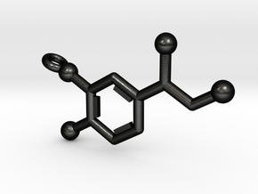 Norepinephrine Molecule Keychain in Matte Black Steel