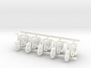3mm Scale Generic Motorbike in White Processed Versatile Plastic