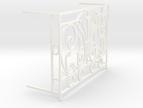 1:12 Balustrade, balcony, railing  French door in White Processed Versatile Plastic