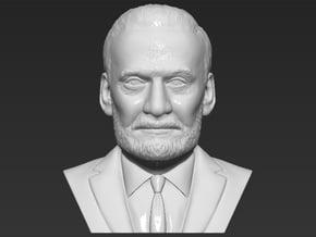 Buzz Aldrin bust in White Natural Versatile Plastic