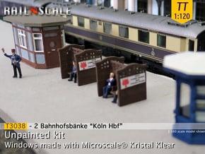 2 Bahnhofsbänke Köln Hbf (TT 1:120) in Smooth Fine Detail Plastic