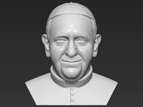 Pope Francis bust in White Natural Versatile Plastic