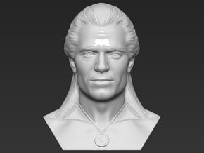 Geralt of Rivia The Witcher Cavill bust in White Natural Versatile Plastic