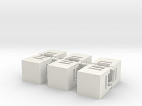 Junction Box in White Natural Versatile Plastic