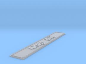 Nameplate Akagi 赤城 (10 cm) in Smoothest Fine Detail Plastic