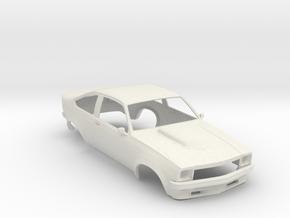 1:24 Holden Torana A9X 2 Door in White Natural Versatile Plastic
