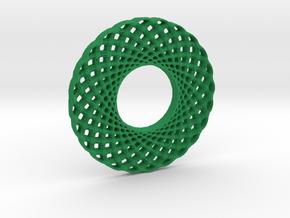 3D-printed coaster #1 in Green Processed Versatile Plastic: Medium