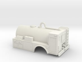 1/50th Wildland USFS Fire tanker, 14 foot in White Natural Versatile Plastic