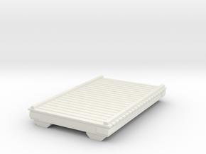 Wooden Pier Deck 1/64 in White Natural Versatile Plastic