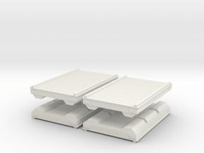 Wooden Pier Deck (x4) 1/144 in White Natural Versatile Plastic