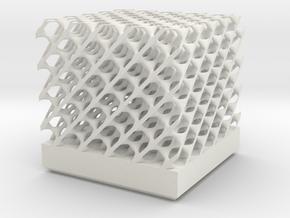 Diamond Network Lattice 50x50x40mm in White Natural Versatile Plastic