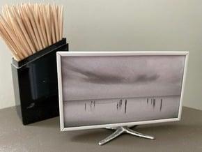 TV on stand 1:12 in White Premium Versatile Plastic