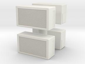 Window AC Unit (x4) 1/48 in White Natural Versatile Plastic