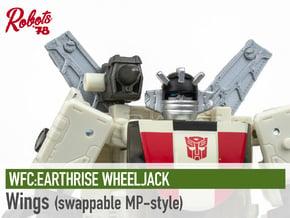 [MP-Style] ER Wheeljack Wings in White Natural Versatile Plastic
