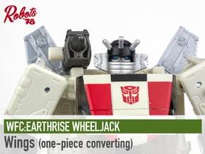 [Converting 1PC] ER Wheeljack Wings in White Natural Versatile Plastic