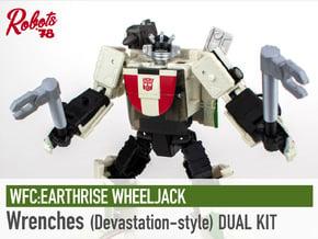 [x2] Wheeljack Wrenches - Devastation-Style in White Natural Versatile Plastic
