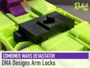 Devastator DNA Designs Arm Locks in White Natural Versatile Plastic