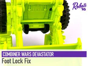 CW/UW Devastator Foot Lock in White Natural Versatile Plastic