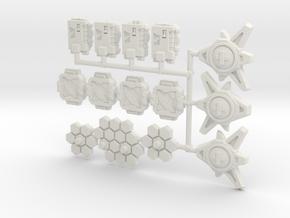 TCG - Assortment 1 - Siege Compatible in White Natural Versatile Plastic