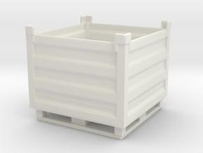 Palletbox Container 1/48 in White Natural Versatile Plastic