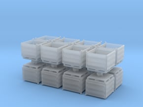 Palletbox Container (x16) 1/200 in Smooth Fine Detail Plastic