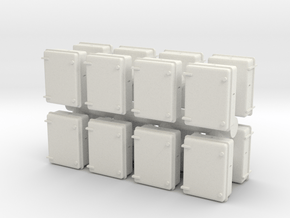 Wall Electrical Cabinet (x16) 1/87 in White Natural Versatile Plastic