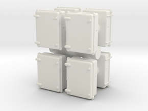 Wall Electrical Cabinet (x8) 1/72 in White Natural Versatile Plastic