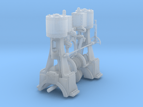 Two Cylinder Vertical Engine for 16 wheeler in Smoothest Fine Detail Plastic