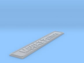 Nameplate M60A3 Patton in Smoothest Fine Detail Plastic